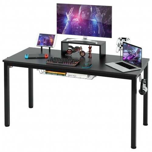 "55"" Ergonomic Gaming Desk w/ Monitor Shelf"