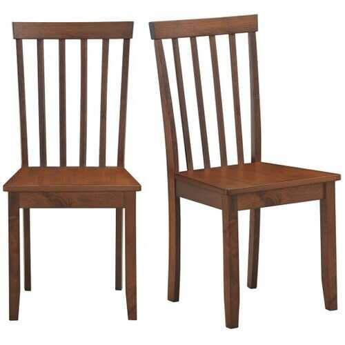 Set of 2 Dining Chair with Solid Wooden Legs