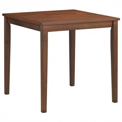 Dining Table Mid Century Square with Solid Wooden Legs