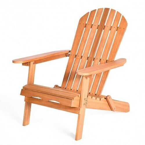Eucalyptus Chair Foldable Outdoor Wood Lounger Chair