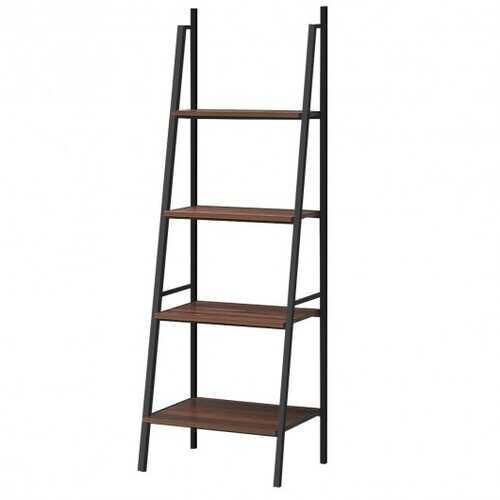 4 Tier Bookcase Metal Frame Bookshelf Storage Plant Stand