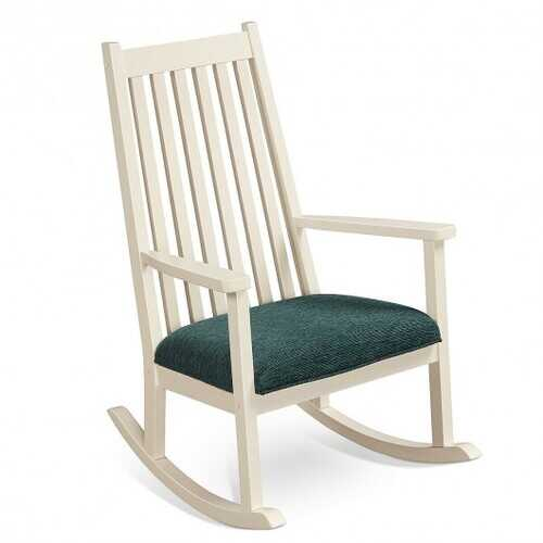 Wood Rocking Chair  with Thick Cushion