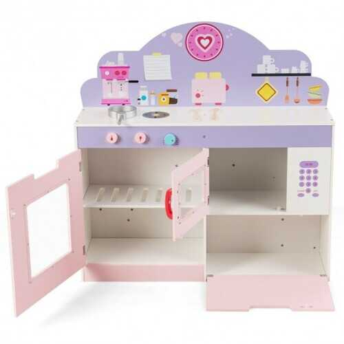 2 in 1 Kitchen and Cafe Pretend Cooking Playset