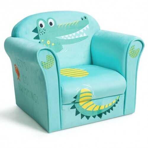 Kids Crocodile Armrest Upholstered Couch