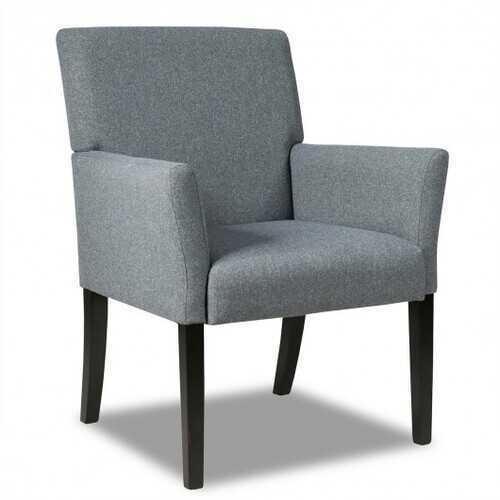 Executive Guest Chair Reception Waiting Room Arm Chair-Gray