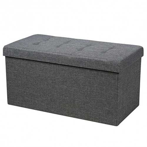 "31.5"" Fabric Foldable Storage with Removable Storage Bin-Dark Gray"