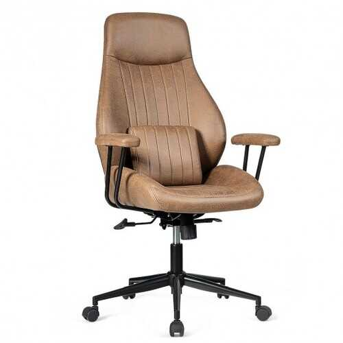 Adjustable Ergonomic High Back Office Chair with Lumbar Support-Brown