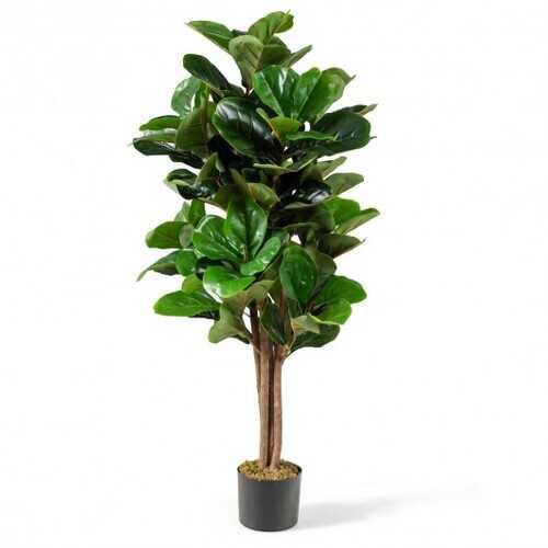 4ft Artificial Fiddle Leaf Fig Tree Decorative Planter