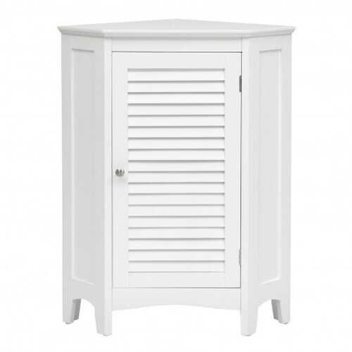 Corner Storage Cabinet Free Standing Bathroom Cabinet with Shutter Door