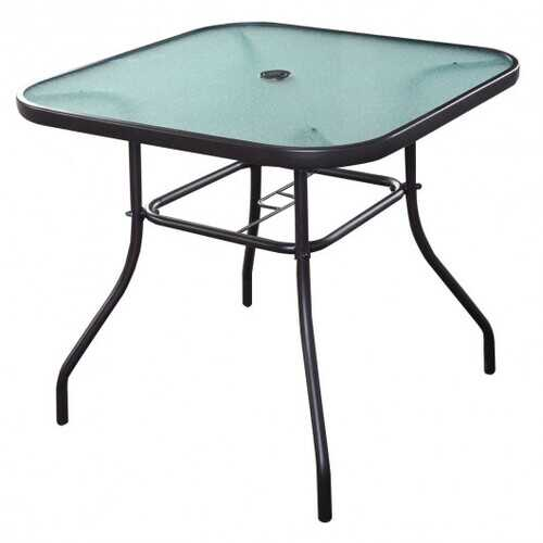 Outdoor Patio Square Glass Dining Table