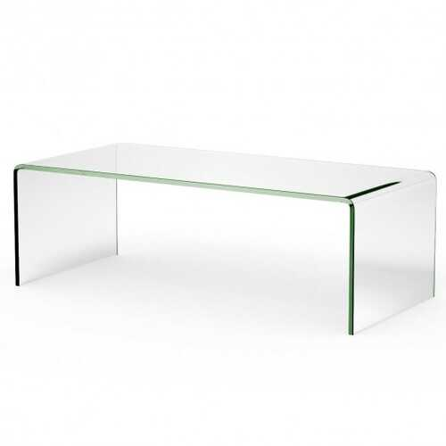 """42.0"""" x 19.7"""" x 14"""" Tempered Glass Coffee Table"""
