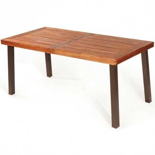 Rectangular Acacia Wood Rustic Dining Furniture Table