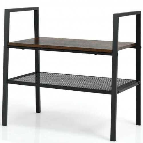2-Tier Storage Stackable Shoe Shelf Display Rack  for Home