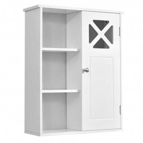 2-Tier Multipurpose Wall-Mounted Cabinet Bathroom Storage