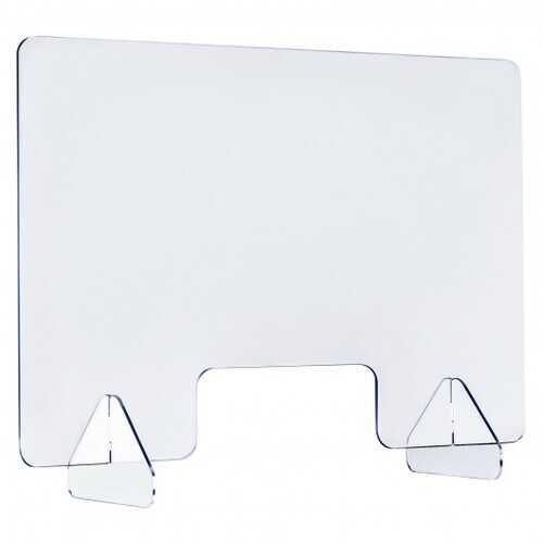 "24"" x 16"" Protective Plexiglass Sneeze Guard Acrylic Shield for Counter"