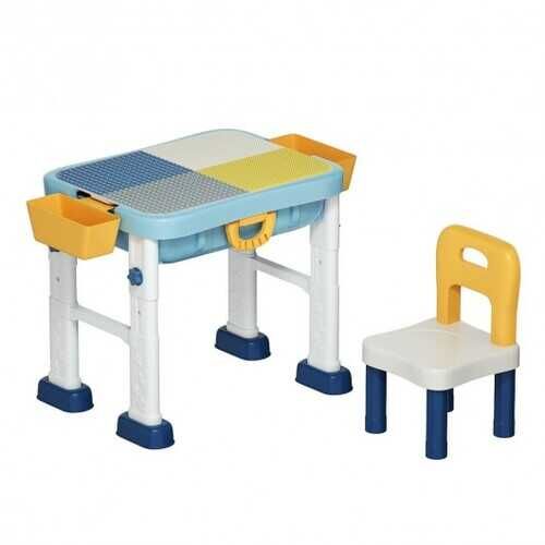 6 in 1 Kids Activity Table Set with Chair