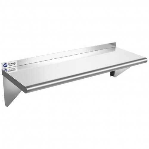 """12"""" 36"""" Stainless Steel NSF Commercial Wall Mount Shelf for Kitchen and Restaurant"""