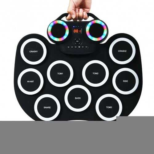 9 Pads MIDI Electronic Roll Up Drum Set