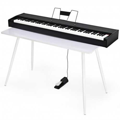 88-Key Full Size Digital Piano Weighted Keyboard with Sustain Pedal-Black