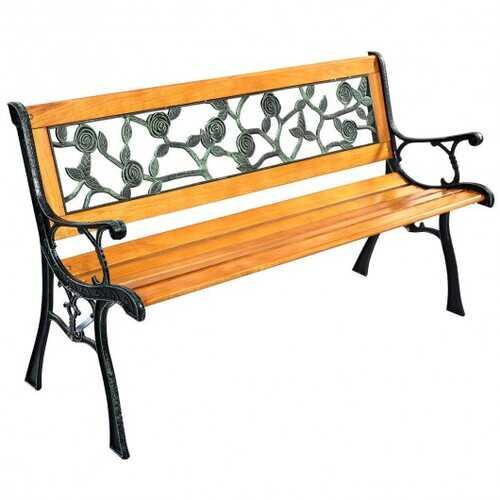 "GOPLUS 49 1/2"" Patio Park Garden Porch Chair Bench"