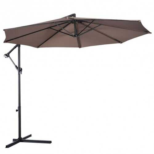 10' Hanging Umbrella Patio Sun Shade Offset Outdoor Market without Weight Base