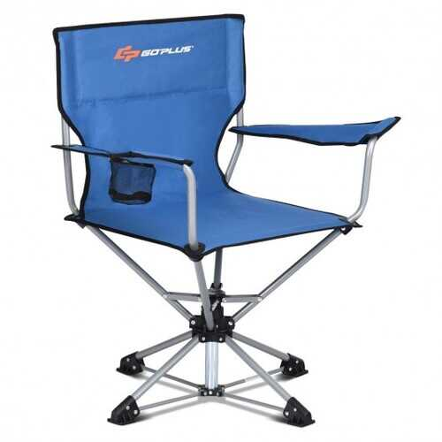 360° Free Rotation Collapsible Portable Swivel Camping Chair