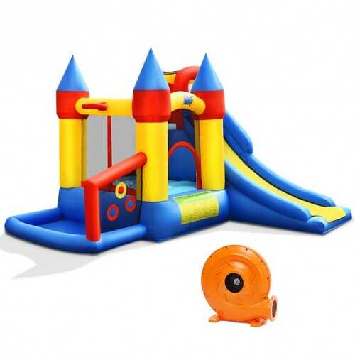 Inflatable Bounce House with Balls & 780W Blower
