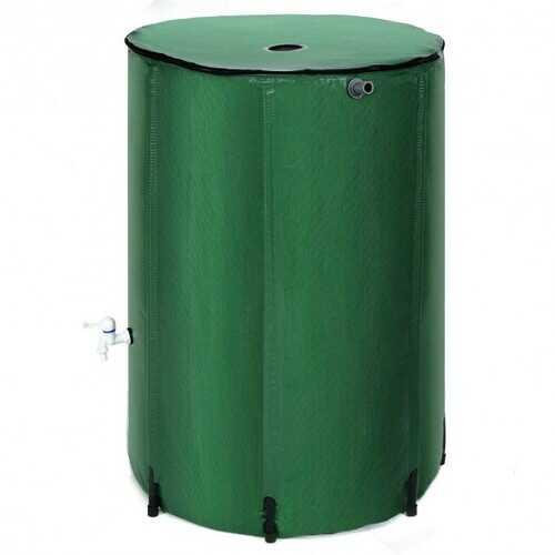 100 Gallon Portable Rain Barrel Water Collector Tank with Spigot Filter