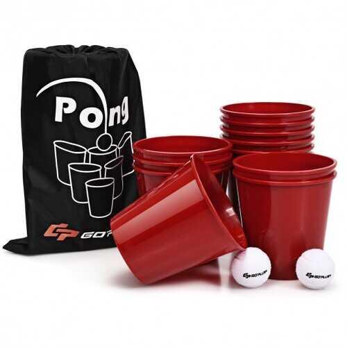 Yard Pong Giant Pong Game Set with Carry Bag