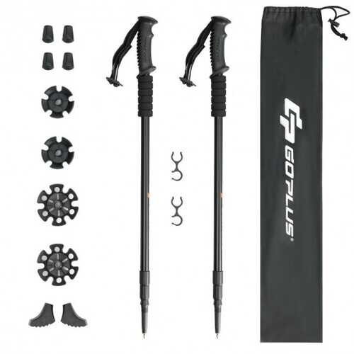 2 Pack Trekking Hiking Sticks Poles