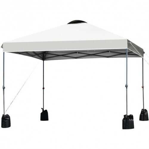 10'x10' Outdoor Commercial Pop up Canopy Tent-White