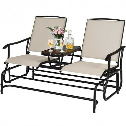 2-Person Outdoor Patio Double Rocking Loveseat