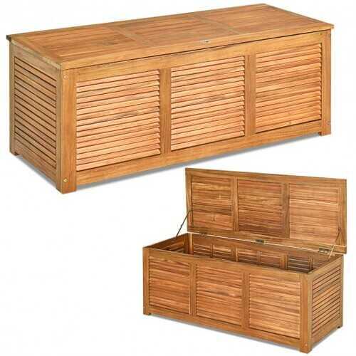 47 Gallon Deck Storage Bench Box Organization Tools
