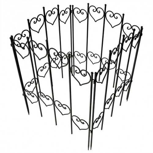 27 in x 6.5 ft Folding Decorative Garden Fence