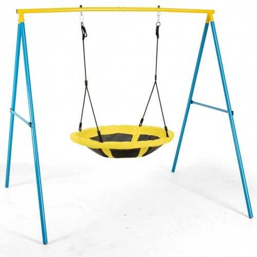 """Swing Set with 40"""" Saucer Tree Swing & Heavy Duty A-Frame Metal Swing Stand Combo"""