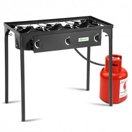 225 000-BTU Portable Propane 3 Burner Gas Cooker