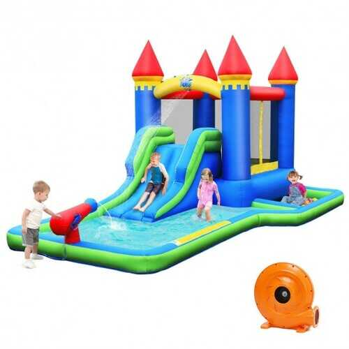Inflatable Bounce House Castle Water Slide with Climbing Wall