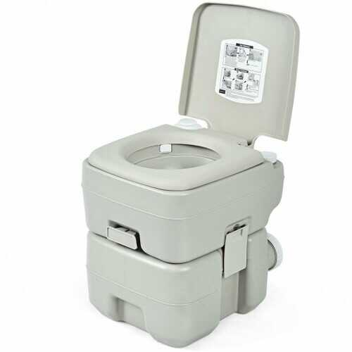 5.3 Gallon 20 L Portable Travel Toilet for Camping RV Indoor Outdoor