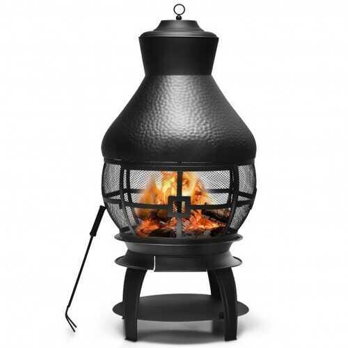 Patio Wood Burning Chimenea Fireplace