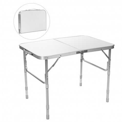 Adjustable Portable Aluminum Patio Folding Camping Table for Outdoor and Indoor
