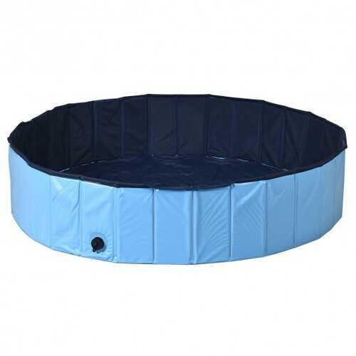 """55"""" PVC Outdoor Foldable Pet and Kids Swimming Pool-Blue"""