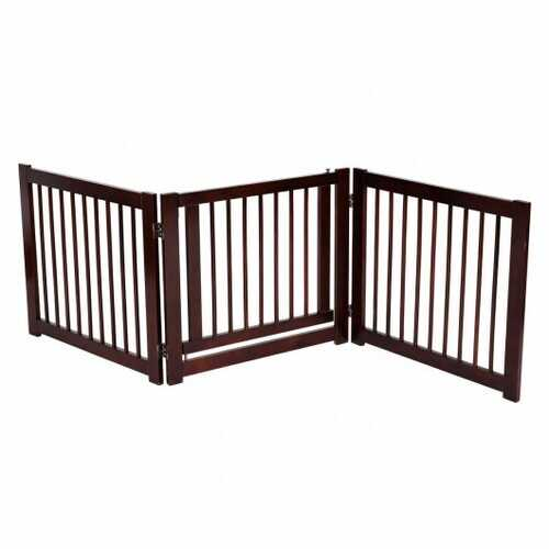 "24"" Configurable Folding 3 Panel Wood Dog Fence"