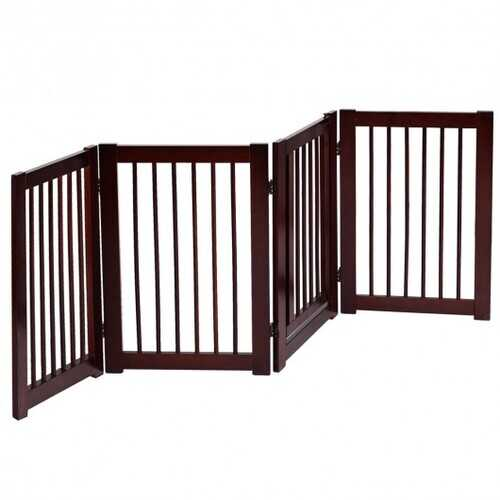 "30"" Configurable Folding 4 Panel Wood Fence"