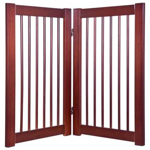 "30"" Configurable Folding Free Standing Wood Pet Safety Fence"