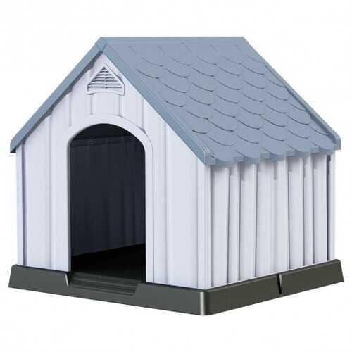 Plastic Medium-Sized Pet Puppy Shelter Waterproof Ventilate Dog House