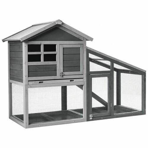 Large Wooden Chicken Coop for Indoor & Outdoor Use