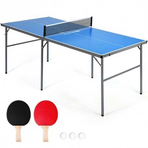 6'x3' Portable Tennis Ping Pong Folding Table Indoor/Outdoor