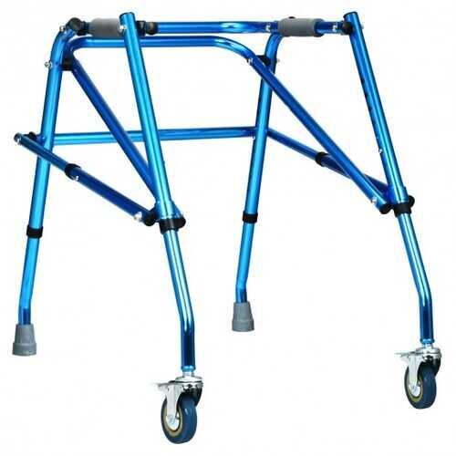Folding Adjustable Walker Small Aluminum Walker -Blue