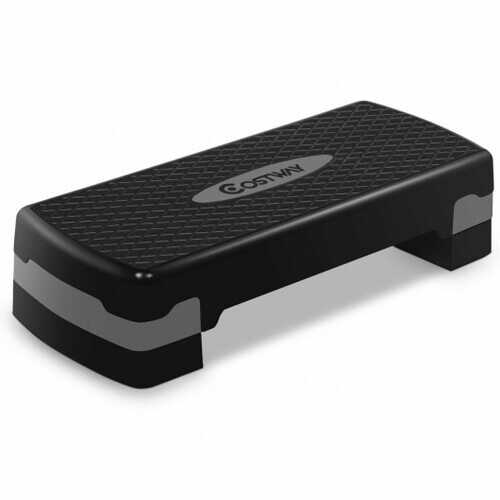 """27"""" Fitness Aerobic Step Exercise Stepper with Riser"""