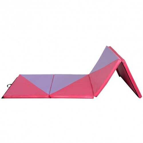 "4' x 10' x 2"" Triangular Splicing Thick Folding Panel Gymnastics Mat"